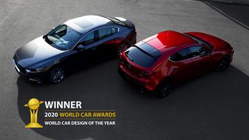 ALL-NEW MAZDA3 คว้ารางวัลรถยนต์ที่ออกแบบยอดเยี่ยมแห่งปี