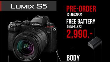 พร้อมแล้ว เปิด Pre-Order Lumix S5 ในราคาสุดช็อค!