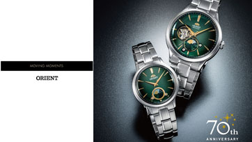 โอเรียนท์ เปิดตัว Sun and Moon นาฬิกาข้อมือสำหรับผู้หญิงและผู้ชายดีไซน์ใหม่