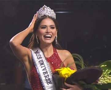 คว้ามงไปครอง ANDREA MEZA  นางงามจากประเทศเม็กซิโก คว้าตำแหน่ง Miss Universe 2020