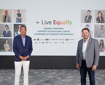 แสนสิริ จับมือ UNDP ปีที่ 2 ย้ำบทบาทองค์กรสนับสนุนความหลากหลาย LGBTQ+ ผนึก 15 พันธมิตร