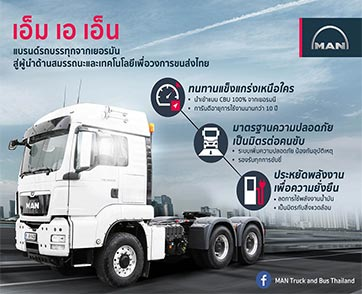 เอ็ม เอ เอ็น แบรนด์รถบรรทุกจากเยอรมัน สู่ผู้นำด้านสมรรถนะและเทคโนโลยีเพื่อวงการขนส่งไทย