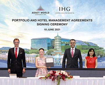 IHG Hotel & Resorts ประกาศลงนามสัญญาครั้งใหม่สามฉบับในประเทศไทย