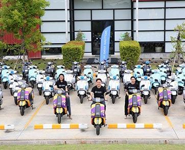 """เอช เซม พร้อมส่งรถมอเตอร์ไซค์ไฟฟ้า 100 คัน ร่วมโครงการ """"Robinhood EV Bike Model"""""""