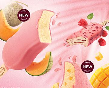 ฮาเก้น-ดาส เปิดตัวไอศกรีมแบบแท่งรสชาติใหม่ล่าสุด แคนตาลูป เมล่อน และการกลับมาของราสป์เบอร์รีที่คุณชื่นชอบ
