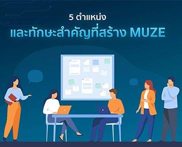 Muze เผย 5 ตำแหน่งและทักษะสำคัญที่สร้าง Muze สู่การเป็นพาร์ทเนอร์ระดับประเทศ