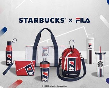 ติมความสนุกอย่างมีสไตล์กับคอลเลคชั่นพิเศษ Starbucks® X FILA เอาใจสายสปอร์ต