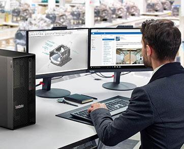 เลอโนโวเปิดตัวไลน์ผลิตภัณฑ์เวิร์คสเตชั่นสำหรับผู้ใช้งานระดับเริ่มต้นกับ ThinkStation P350 Desktop