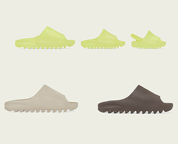 YEEZY SLIDE GLOW GREEN, YEEZY SLIDE PURE และ YEEZY SLIDE SOOT รองเท้าแตะดีไซน์เฉียบ