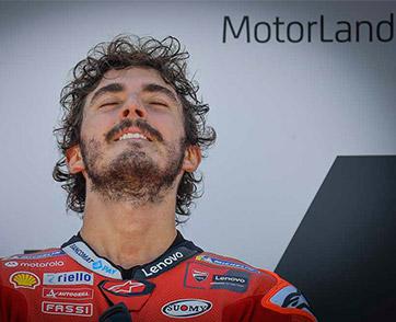 Bagnaia battles Marquez for stunning maiden win at MotorLand