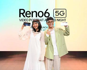 """ออปโป้ เปิดตัว OPPO Reno6 5G กับดีไซน์เรโทรสุดพรีเมี่ยมในงาน """"OPPO Reno6 5G Video Portrait Awards Night"""""""