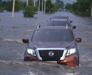 นิสสันช่วยเหลือผู้ประสบภัยน้ำท่วมจังหวัดสุโขทัย ชัยภูมิ และลพบุรี