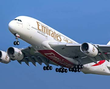 เอมิเรตส์ มุ่งขยายเครือข่ายเส้นทางบริการของเครื่องบิน A380