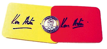 The begining of yellow and red cards.